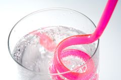 Drink. Glass with straw stock photos