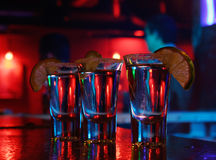 Drink. In a bar for 3 person Royalty Free Stock Photo