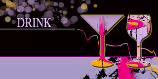 Drink. Abstract background  with colored  glasses Stock Photography