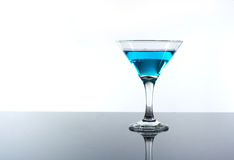 Drink alcohol in a glass on the table Royalty Free Stock Photo