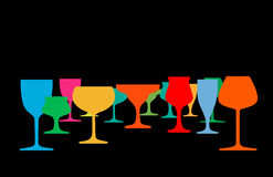 Drink alcohol illustration Royalty Free Stock Photography