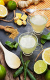 Drink with aloe vera and lemons Stock Photo