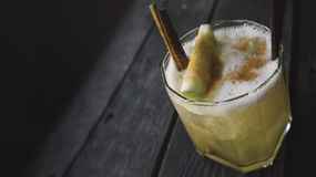 Drink with apple and cinnamon Stock Photo