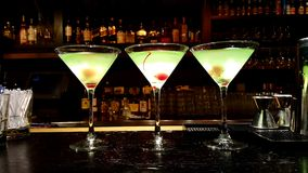 Drink apple martini Royalty Free Stock Photos