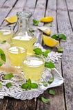Drink av citronen royaltyfria bilder