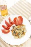 Drink av friskhet, fruktsaft, sommar, fräckhet Arkivfoto