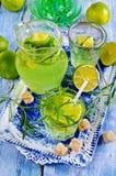 Drink av limefrukt och dragon arkivfoton