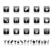 Drink and bar icons. Vector illustration of drink and bar icons
