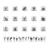 Drink and bar icons. Royalty Free Stock Images