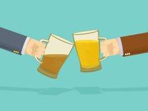 Drink Bar  Poster. beer hands Stock Photo