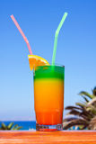 Drink on a beach royalty free stock images