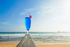 Drink on the beach Stock Photography