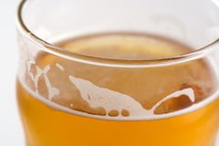 Drink of Beer. Top of a glass of lager Royalty Free Stock Photo