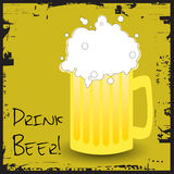 Drink beer. Vector illustration for beer drinkers Stock Image