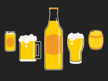 Drink of beer cartoon. Vector graphic illustrations Stock Photos