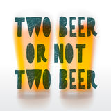 Drink beer poster Stock Images