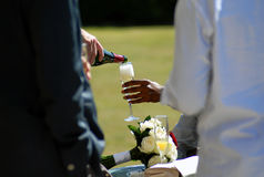 Drink being served Stock Photography