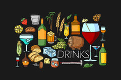 Drink and Beverage concept for web design template Royalty Free Stock Photography