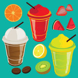Drink Beverage Fruit Shake and Smoothie Royalty Free Stock Images