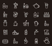 Drink and beverage icons Stock Photo