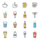 Drink And Beverages. Flat Line Icon royalty free illustration