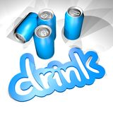 Drink blue can Stock Image