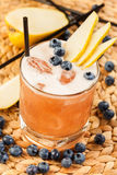 Drink with blueberry and pear Stock Images
