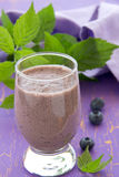 Drink-blueberry smoothie. Royalty Free Stock Photos