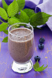 Drink-blueberry smoothie Stock Photography