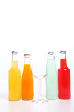 Drink Bottle. Drinks in glass bottles isolated on white Stock Images