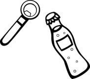 Drink and bottle opener vector illustration Stock Images