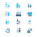 Drink Bottles Icons | MARINE Series Stock Images