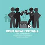 Drink Break Football Symbol. Royalty Free Stock Photography