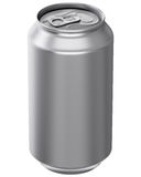 Drink Can. 3D computer illustration on white background Royalty Free Stock Images
