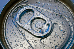 Drink can. With water drops Stock Images