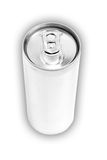 Drink can from blank aluminum. Isolated on white background Stock Image