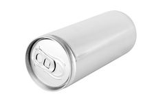 Drink can from blank aluminum. Isolated on white background Royalty Free Stock Photography