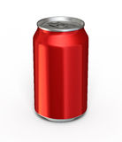 Drink Can. 3d render red drink can ( and clipping path Stock Photo