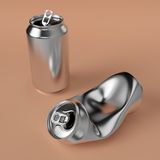 Drink can deformed Royalty Free Stock Images