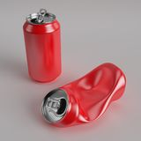 Drink can deformed Royalty Free Stock Photography