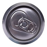 Drink can - top side. Drink can, top side view stock photo