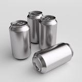Drink cans. 3D computer illustration with global illumination enabled Royalty Free Stock Photos