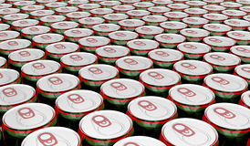 Drink cans Stock Photography