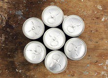 Drink cans Stock Image
