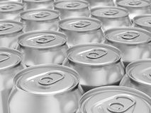 Drink cans background Royalty Free Stock Photography