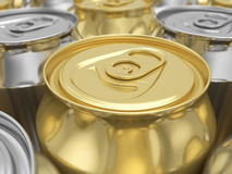 Drink cans background Royalty Free Stock Photos