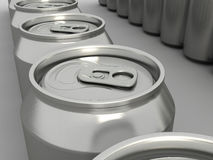 Drink Cans Closeup Stock Photo