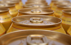 Drink cans piled Royalty Free Stock Photos