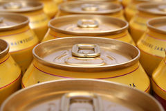Drink cans piled Stock Photos