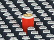 Drink cans Royalty Free Stock Images